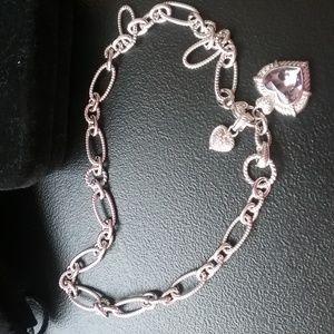 """Judith Ripka7.00 ct. Amethyst Enhancer w/18"""" Chain"""